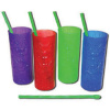 Tiki Cups With Bamboo Style Straws